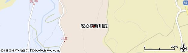 大分県宇佐市安心院町川底周辺の地図