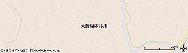 高知県中土佐町(高岡郡)大野見下ル川周辺の地図