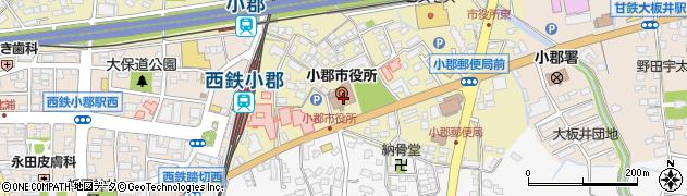 福岡県小郡市周辺の地図
