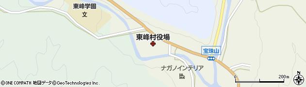 福岡県東峰村(朝倉郡)周辺の地図