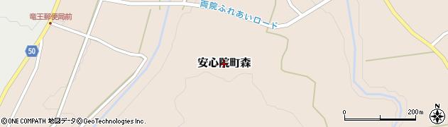 大分県宇佐市安心院町森周辺の地図
