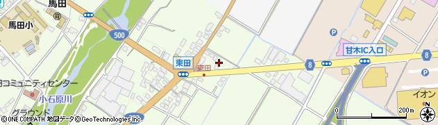株式会社大日機材朝倉営業所周辺の地図
