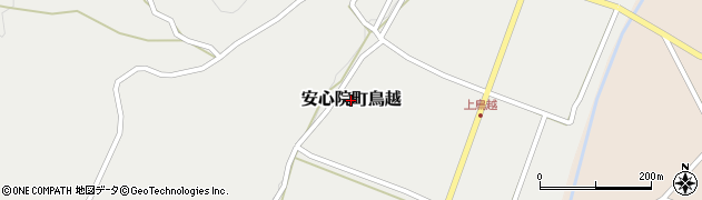 大分県宇佐市安心院町鳥越周辺の地図