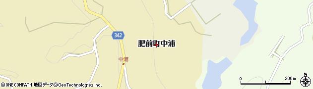 佐賀県唐津市肥前町中浦周辺の地図