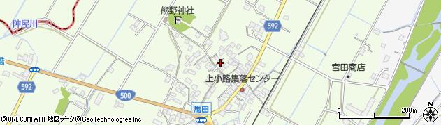 福岡県朝倉市馬田周辺の地図