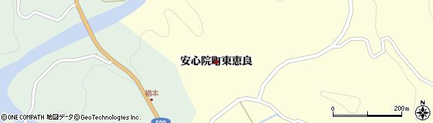大分県宇佐市安心院町東恵良周辺の地図