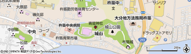 青筵神社周辺の地図