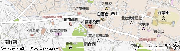 大分県杵築市周辺の地図