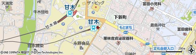 福岡県朝倉市周辺の地図