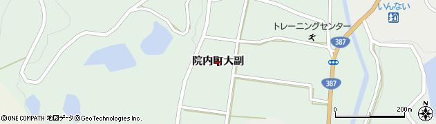 大分県宇佐市院内町大副周辺の地図