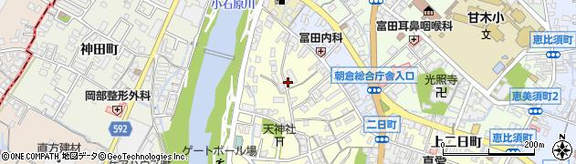 福岡県朝倉市天神町周辺の地図