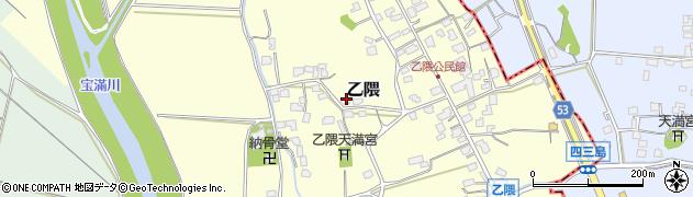 福岡県小郡市乙隈周辺の地図