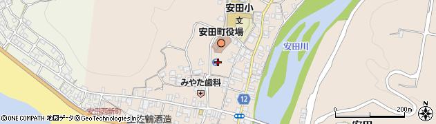高知県安芸郡安田町周辺の地図