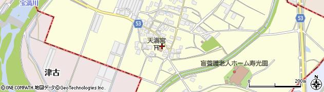 福岡県筑紫野市馬市周辺の地図