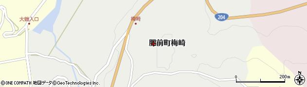 佐賀県唐津市肥前町梅崎周辺の地図