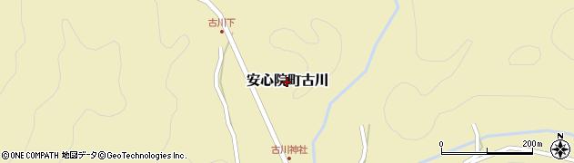 大分県宇佐市安心院町古川周辺の地図