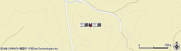 佐賀県佐賀市三瀬村三瀬周辺の地図