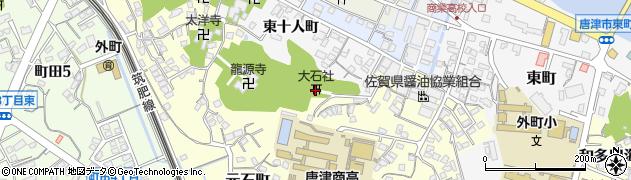 大石神社周辺の地図