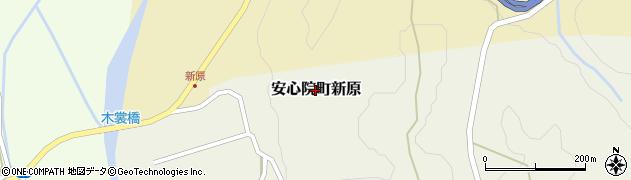 大分県宇佐市安心院町新原周辺の地図