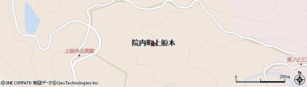 大分県宇佐市院内町上船木周辺の地図