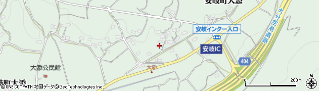 大分県国東市安岐町大添1324周辺の地図