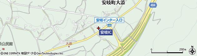 大分県国東市安岐町大添谷周辺の地図