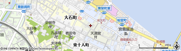 佐賀県唐津市水主町周辺の地図