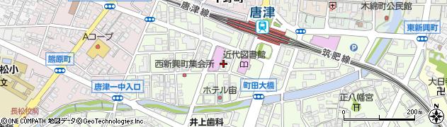 佐賀県唐津市新興町周辺の地図