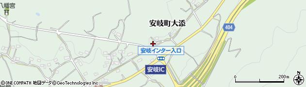 大分県国東市安岐町大添1636周辺の地図