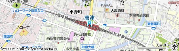 佐賀県唐津市周辺の地図