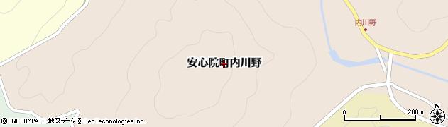 大分県宇佐市安心院町内川野周辺の地図