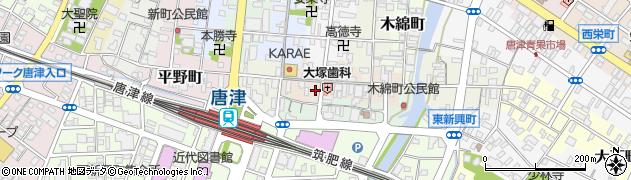 佐賀県唐津市京町周辺の地図