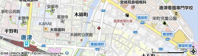 佐賀県唐津市魚屋町周辺の地図