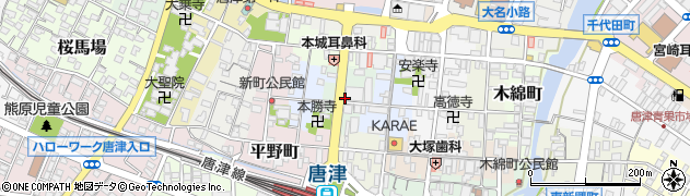佐賀県唐津市米屋町周辺の地図