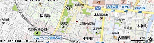 佐賀県唐津市弓鷹町周辺の地図