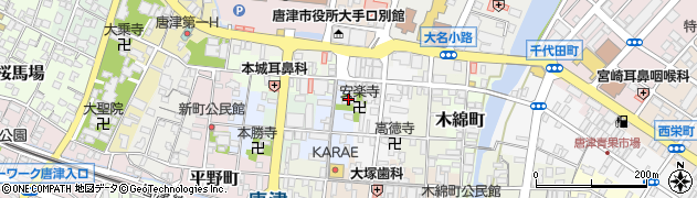 佐賀県唐津市呉服町周辺の地図