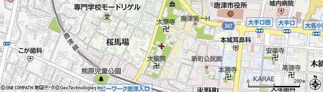 長得寺周辺の地図