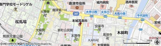 佐賀県唐津市刀町周辺の地図