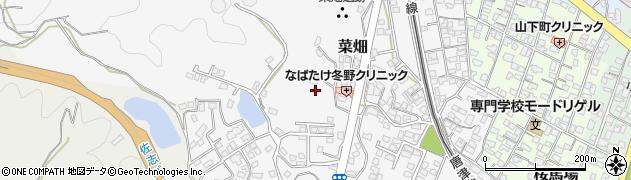 佐賀県唐津市菜畑周辺の地図