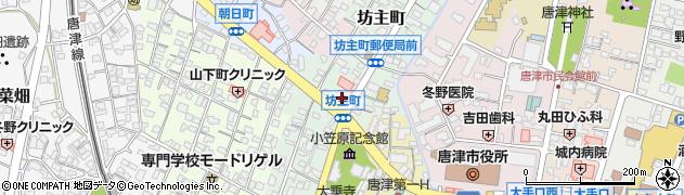 佐賀県唐津市坊主町周辺の地図