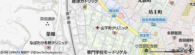 佐賀県唐津市山下町周辺の地図