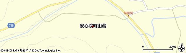 大分県宇佐市安心院町山蔵周辺の地図