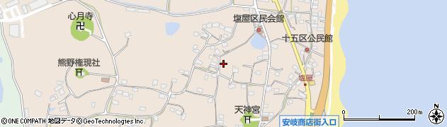 大分県国東市安岐町塩屋807周辺の地図