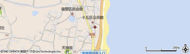大分県国東市安岐町塩屋1592周辺の地図