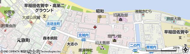 佐賀県唐津市北城内周辺の地図