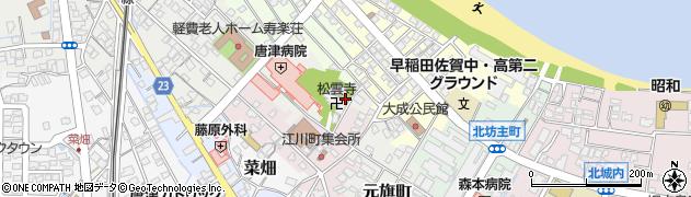 佐賀県唐津市元旗町周辺の地図