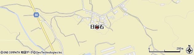 福岡県朝倉市日向石周辺の地図