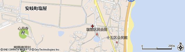 大分県国東市安岐町塩屋383周辺の地図