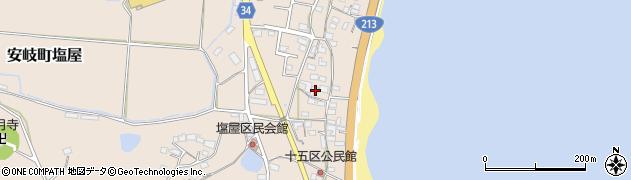 大分県国東市安岐町塩屋1647周辺の地図