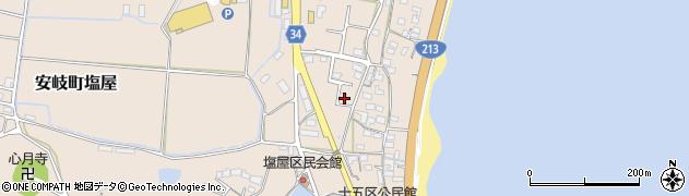 大分県国東市安岐町塩屋341周辺の地図